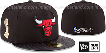 Bulls 'TROPHY-CHAMP' Black Fitted Hat by New Era