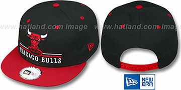 Bulls 'UNDERLINE SNAPBACK' Black-Red Hat by New Era