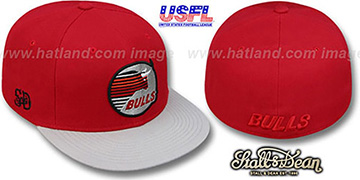 Bulls USFL Fitted Red-Grey Hat by Stall & Dean