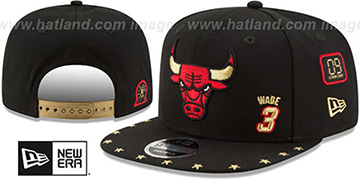Bulls WADE 'SUPER-STAR SNAPBACK' Black Hat by New Era