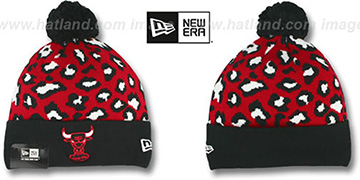 Bulls 'WINTER-JUNGLE' Knit Beanie Hat by New Era