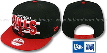 Bulls 'WORDSTRIPE SNAPBACK' Black-Red Hat by New Era