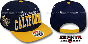 Cal '2T SUPER-ARCH SNAPBACK' Navy-Gold Hat by Zephyr