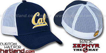 Cal 'DHS-MESH' Fitted Hat by Zephyr - navy-white