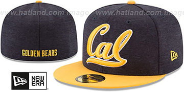 California 'HEATHER-HUGE' Navy-Gold Fitted Hat by New Era