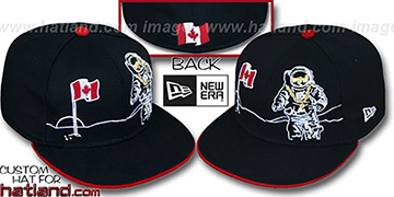 Canada 'MOONMAN' Black Fitted Hat by New Era
