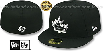 Canada 'PERFORMANCE WBC' Black-White Hat by New Era