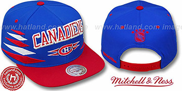 Canadiens 2T DIAMONDS SNAPBACK Royal-Red Adjustable Hat by Mitchell & Ness