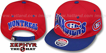 Canadiens '2T FLASHBACK SNAPBACK' Red-Royal Hat by Zephyr