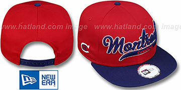 Canadiens 2T SCRIPTER SNAPBACK Red-Navy Hat by New Era
