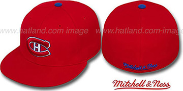 Canadiens 'CLASSIC THROWBACK' Red Fitted Hat by Mitchell & Ness