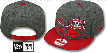 Canadiens FLANNEL SNAPBACK Grey-Red Hat by New Era
