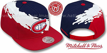 Canadiens PAINTBRUSH SNAPBACK Navy-White-Red Hat by Mitchell & Ness