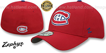 Canadiens SHOOTOUT Red Fitted Hat by Zephyr