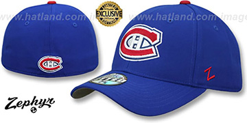 Canadiens SHOOTOUT Royal Fitted Hat by Zephyr