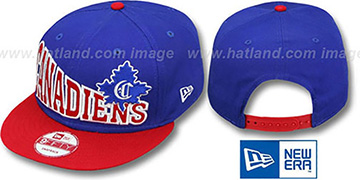 Canadiens STOKED SNAPBACK Royal-Red Hat by New Era