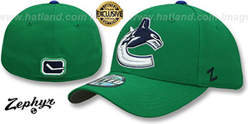 Canucks  'SHOOTOUT' Green Fitted Hat by Zephyr