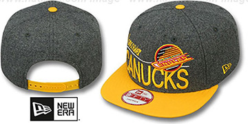 Canucks 'FLANNEL SNAPBACK' Grey-Gold Hat by New Era