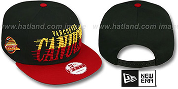 Canucks 'SAILTIP SNAPBACK' Black-Red Hat by New Era