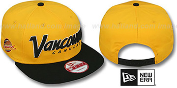 Canucks 'SNAP-IT-BACK SNAPBACK' Gold-Black Hat by New Era