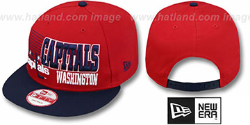 Capitals 2T BORDERLINE SNAPBACK Red-Navy Hat by New Era