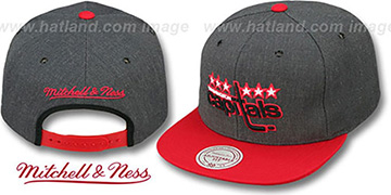 Capitals '2T-HEATHER SNAPBACK' Grey-Red Hat by Mitchell & Ness