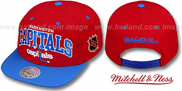 Capitals '2T TEAM ARCH SNAPBACK' Adjustable Hat by Mitchell & Ness