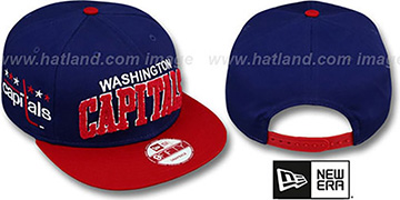 Capitals CHENILLE-ARCH SNAPBACK Navy-Red Hat by New Era