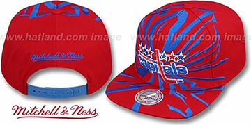 Capitals EARTHQUAKE SNAPBACK Red Hat by Mitchell and Ness