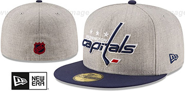 Capitals 'HEATHER GRAND' Grey-Navy Fitted Hat by New Era