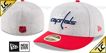 Capitals 'LOW-CROWN CHANGE UP' Grey-Red Fitted Hat by New Era