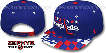 Capitals MARYLAND FLAG SNAPBACK Royal Hat by Zephyr