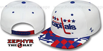 Capitals 'MARYLAND FLAG SNAPBACK' White Hat by Zephyr