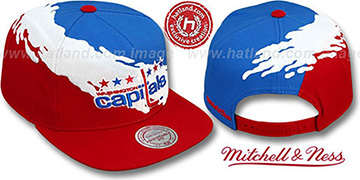 Capitals PAINTBRUSH SNAPBACK Royal-White-Red Hat by Mitchell and Ness