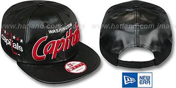 Capitals REDUX SNAPBACK Black Hat by New Era