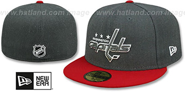 Capitals 'SHADER MELT-2' Grey-Red Fitted Hat by New Era