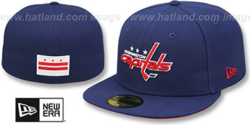 Capitals STATE STARE Navy Fitted Hat by New Era