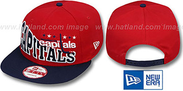Capitals STOKED SNAPBACK Red-Navy Hat by New Era