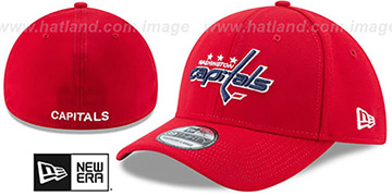 Capitals TEAM-CLASSIC Red Flex Hat by New Era
