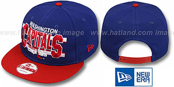 Capitals WORDSTRIPE SNAPBACK Navy-Red Hat by New Era