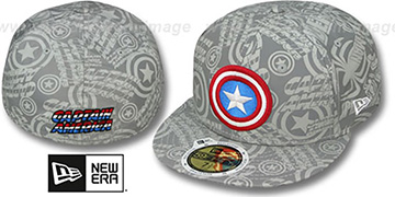 Captain America COMIC REFLECT Fitted Hat by New Era