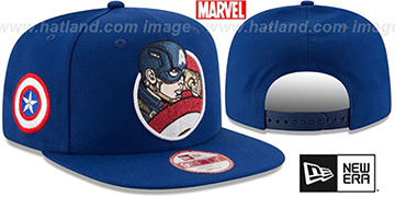Captain America 'RETROFLECT SNAPBACK' Royal Hat by New Era