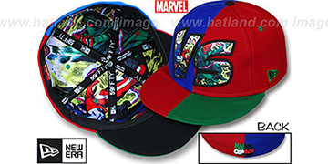 Captain America 'VERSUS' Skull Multi Fitted Hat by New Era