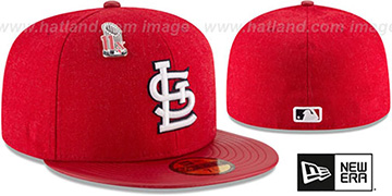 Cardinals '11X HEATHER-PIN' Red Fitted Hat by New Era
