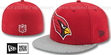 Cardinals '2014 NFL DRAFT' Burgundy Fitted Hat by New Era