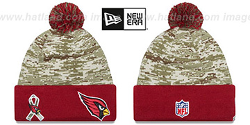 Cardinals 2015 SALUTE-TO-SERVICE Knit Beanie Hat by New Era