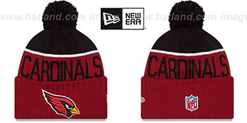 Cardinals 2015 STADIUM Cardinal-Black Knit Beanie Hat by New Era