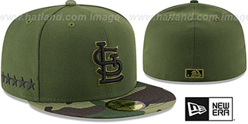 Cardinals 2017 MEMORIAL DAY 'STARS N STRIPES' Hat by New Era