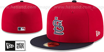 Cardinals 2018 PROLIGHT-BP Red-Navy Fitted Hat by New Era