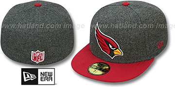 Cardinals '2T NFL MELTON-BASIC' Grey-Burgundy Fitted Hat by New Era